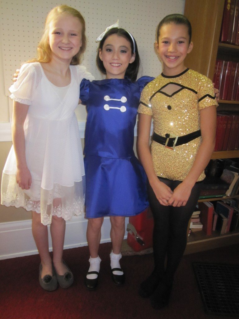 Britta (Wendy from Peter Pan) Olesen,  Zoë (Lucy from Snoopy the Musical) Chow, Tallia (Broadway Baby from Follies) Rodgers